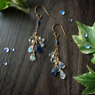 Handmade earrings morning light