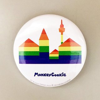 Badge rainbow city