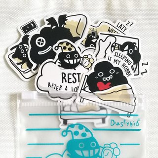 Dustykid bag dust sticker combination - Rest~