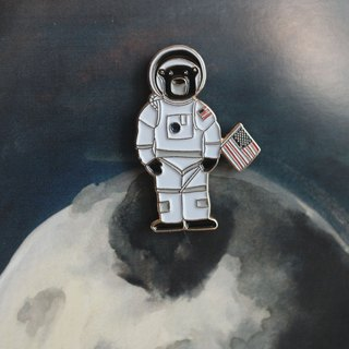 Sun Bear Astronaut Pin