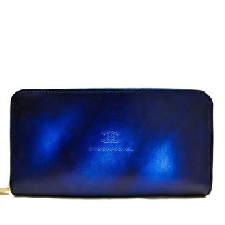 ACROMO blue Zip Around Wallet