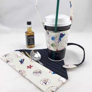 Dancing hot baseball spirit - environmental protection cutlery bag + drink strap - special combination