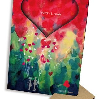 Love balloon with Love 60 seconds sound and light recording card postcard repeatable recording frame Tanabata Valentine's Day gift ....
