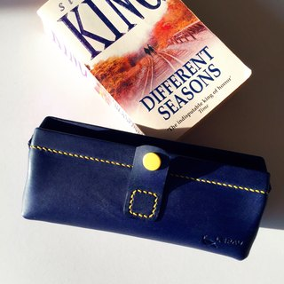 COLORFUL LEATHER BOX 【NAVY】