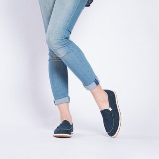 Casual shoes Nantes series denim lazy shoes dark blue girls