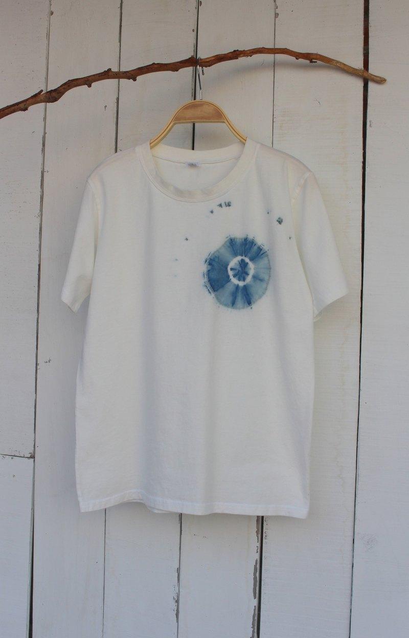 自在染isvara 手工藍染 純粹系列 漩渦 純棉T-shirt