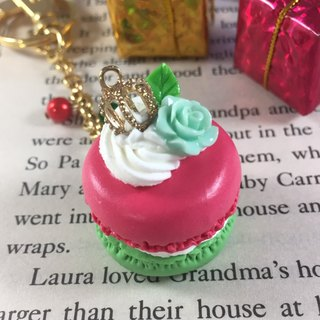 Two-color Macaron key ring