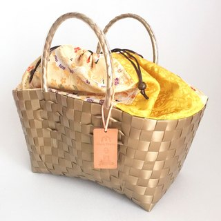 Plabag with Kimono - manakaban and jollies collaboration - [Brocade] Gold