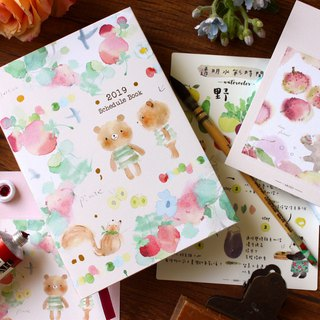 凉丰x Dimanche 2019 Watercolor Set Pocket Account Cubs Secret Communication