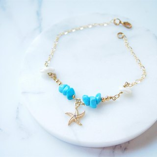 Anniewhere | Turkish Stone Wishing Starfish Bracelet