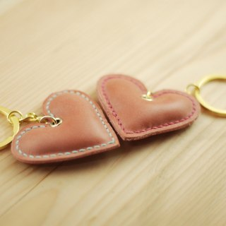 [All the Christmas discount] hand-stitched three-dimensional love leather key ring