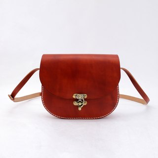 Tangential】 【mushrooms mushrooms leather handmade retro saddle bag female student bag Messenger bag