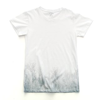 Lin · white gradient T-shirt