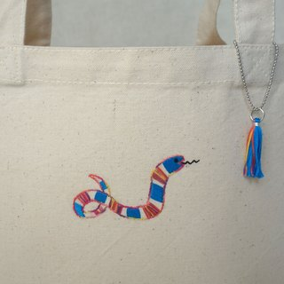 "the oriental zodiac Tote bag with hand embroidery ""snake"" [order-receiving production]"