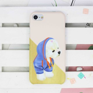Watercolor Hiphop Maltese puppy hard Phone Case for iPhone X 8 8 plus 7 7+ S8 S7