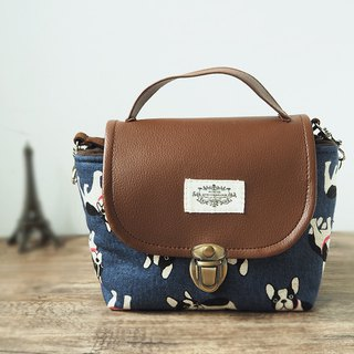 (small camera bag) class single small single eye camera thick cotton camera bag (dark blue law bucket) B21