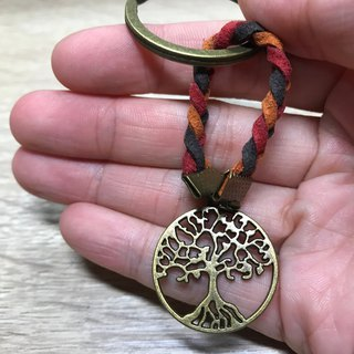 - Lakshmi - tree of life key ring couple charm birthday gift bronze vintage guardian
