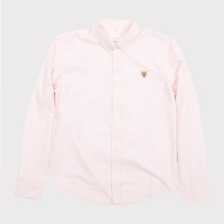 【Pjai】Embroidery Shirt - Pink//Blue//White (ST792)