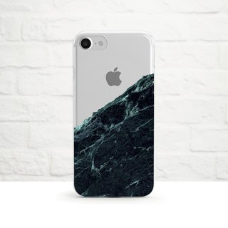 Black Marble, Clear Soft Case, iPhone Xs Max to iPhone SE/5, Samsung