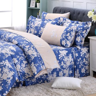 Increase the size of the blue dream - Tencel dual-use bed cover six-piece group [100% Lysell] emperor fold