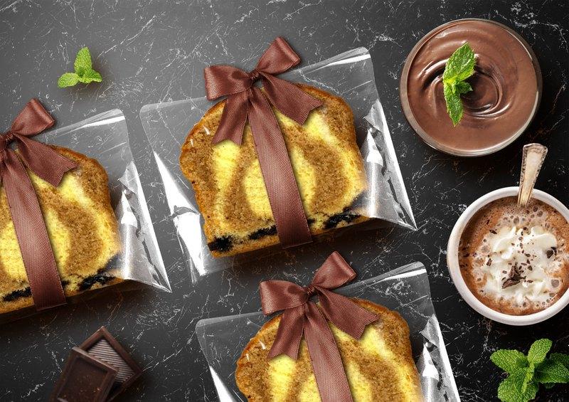 【桃德先生手工布朗尼專賣】緞帶-奶茶巧克力磅蛋糕