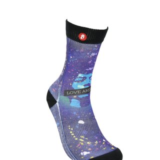 Hong Kong Design | Fool's Day stamp socks -Love and Peace 00173