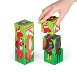 [pukaca hand-made educational toys] paper blocks series - forest animals