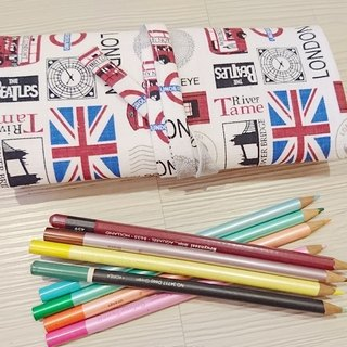 Cotton cloth pouch bags pencil pen brush tool bag British style