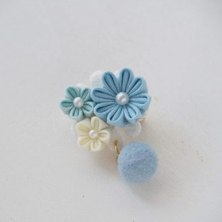 Cute Baby Blue Fabric Floral Corsage, Brooch custom
