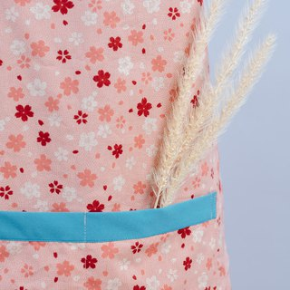 Double-sided apron - cherry apron mother hand made non-toxic