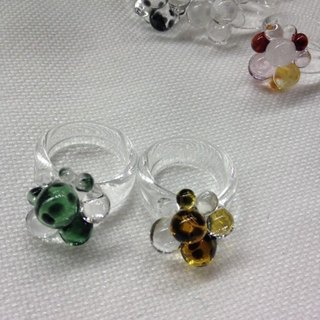 GLASS BUBBLES RING