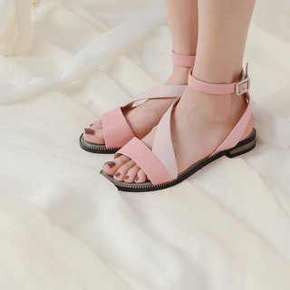 [Show products clear] elegant streamlined leather sandals pink
