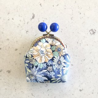 Little Rainbow Candy Gold Coin Purse - Blue Flower
