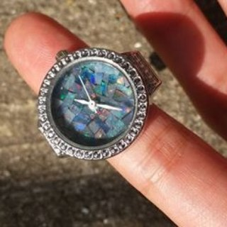【Lost And Find】Natural opal lapis lazuli ring watch