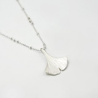 I-Shan13 Ginkgo Leaf Necklace Small