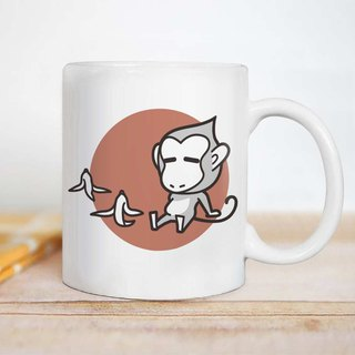 Lazy energy [monkey] 12 Zodiac mugs / customizable text