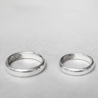 Traveler's mark [Arc fingerprint ring] ring