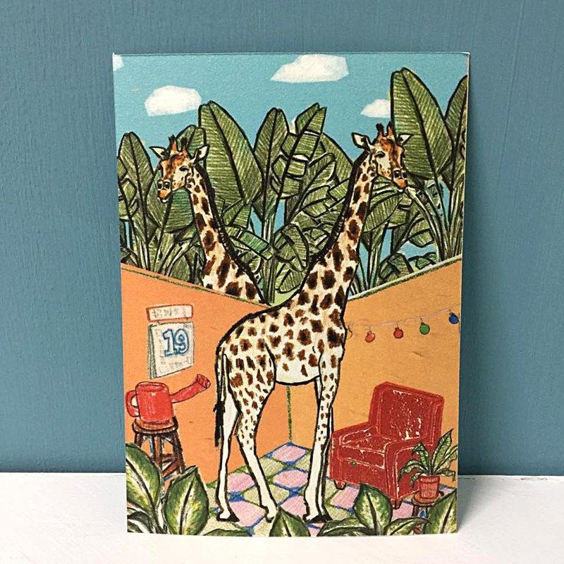 長頸鹿的家明信片