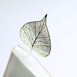 Hand Heart Design Four Seasons Leaf Brass Bookmark Bodhi Leaf Gift Box