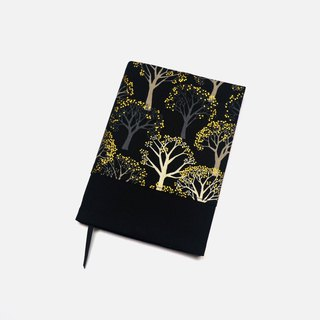 Brocade tree book cover with bookmark handmade Print Cotton Fabric canvas