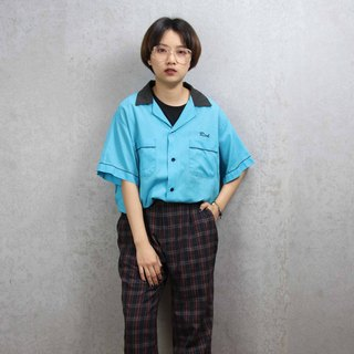 Tsubasa.Y ancient house bowling shirt 010, bowling shirt, short-sleeved shirt thin shirt
