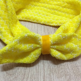 Rabbit ear hair band yellow egg Easter Egg paragraph