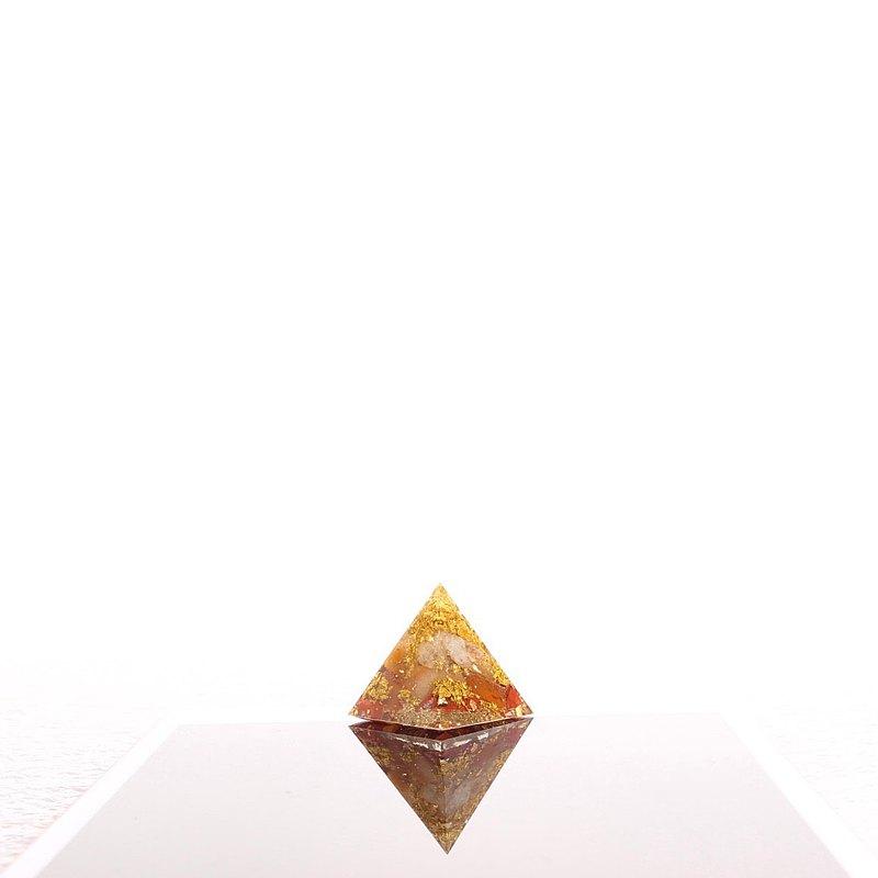 金玉滿堂2-奧剛小金字塔Orgonite水晶礦石財富、招財、樂觀、豐盛