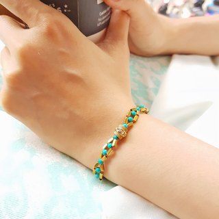 CuFun ◆ surrounded zircon / brass / turquoise bracelet gift custom designs