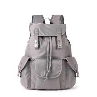 Classic Waterproof Grey Drawstring Backpack/Travel Backpack/Student Bag Multicolor Optional #1018