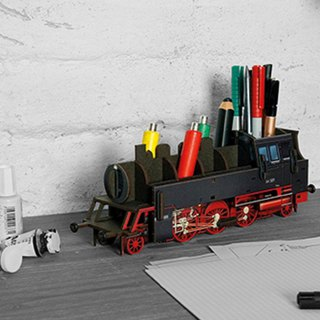 German Werkhaus multi-purpose design pen holder - retro steam train