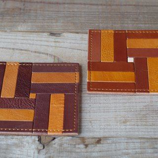 Nume leather mosaic coaster (G)