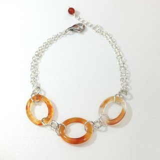 Fashion generous gift of choice of natural stones * BR0325 - own production - natural agate, 925 sterling silver hand and chain