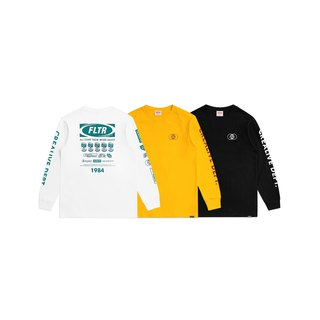 FLTR 90s Worldwide Logo Long Sleeve Tee  Worldwide Logo薄長T
