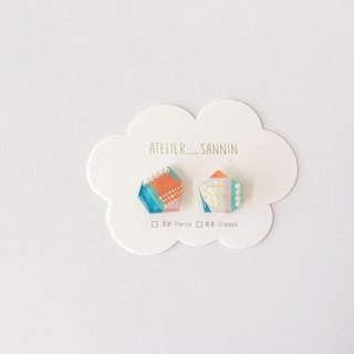 Dreamland amusement park series-Galaxy treasure hunt boat ear handmade earrings ear clips / ear clips